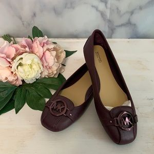 Michael Kors Womens Leather Ballet Flat Size 9 New